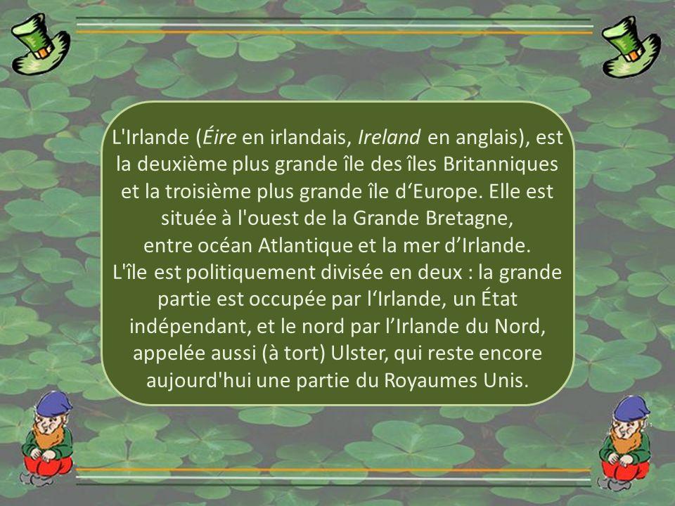 entre océan Atlantique et la mer d'Irlande.