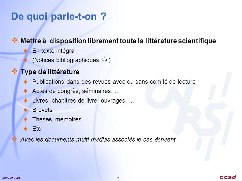 De quoi parle-t-on Mettre à disposition librement toute la littérature scientifique. En texte intégral.