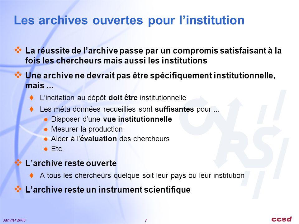 Les archives ouvertes pour l'institution