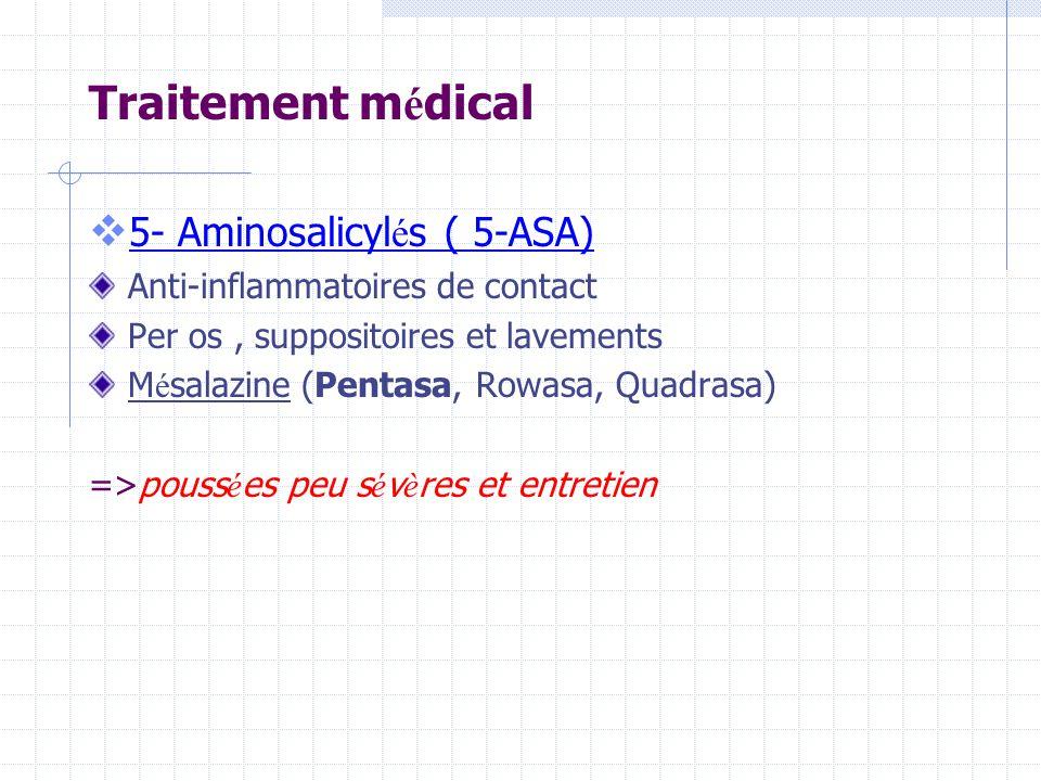 Traitement médical 5- Aminosalicylés ( 5-ASA)