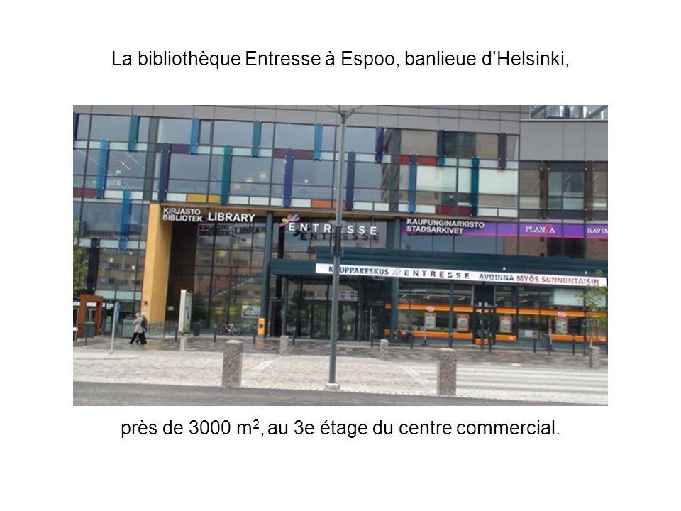 La bibliothèque Entresse à Espoo, banlieue d'Helsinki,