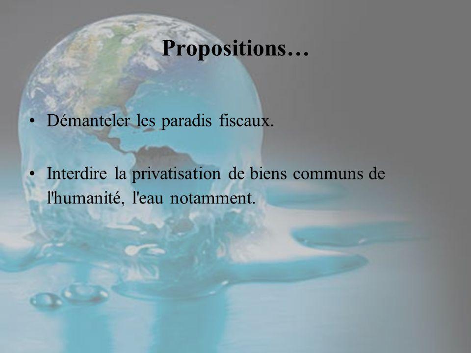 Propositions… Démanteler les paradis fiscaux.