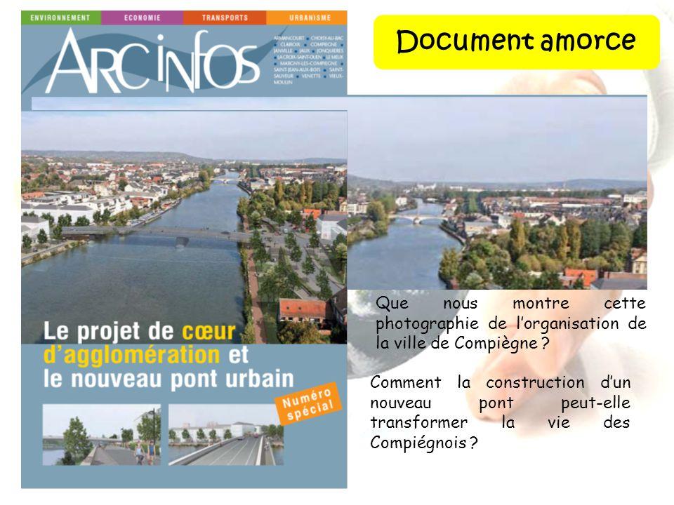 Document amorce Que nous montre cette photographie de l'organisation de la ville de Compiègne