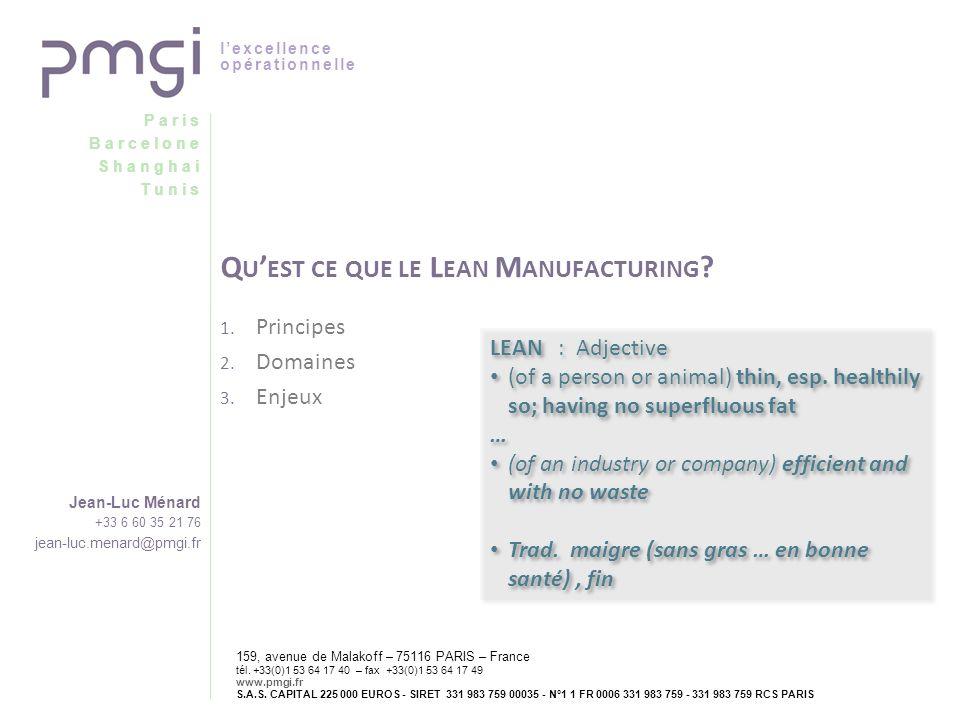 Qu'est ce que le Lean Manufacturing