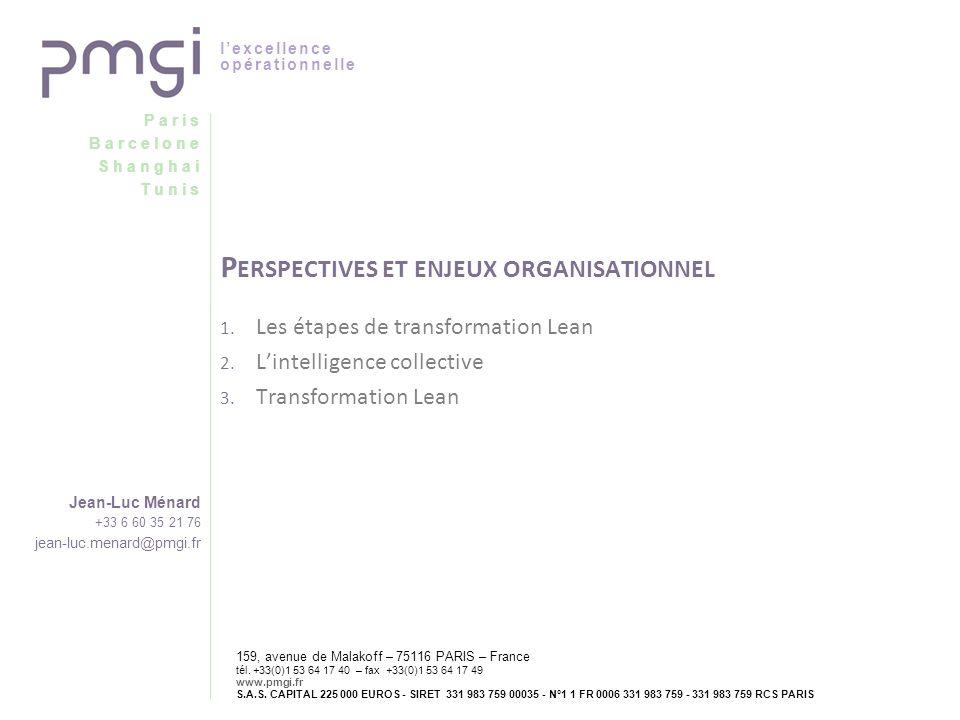 Perspectives et enjeux organisationnel