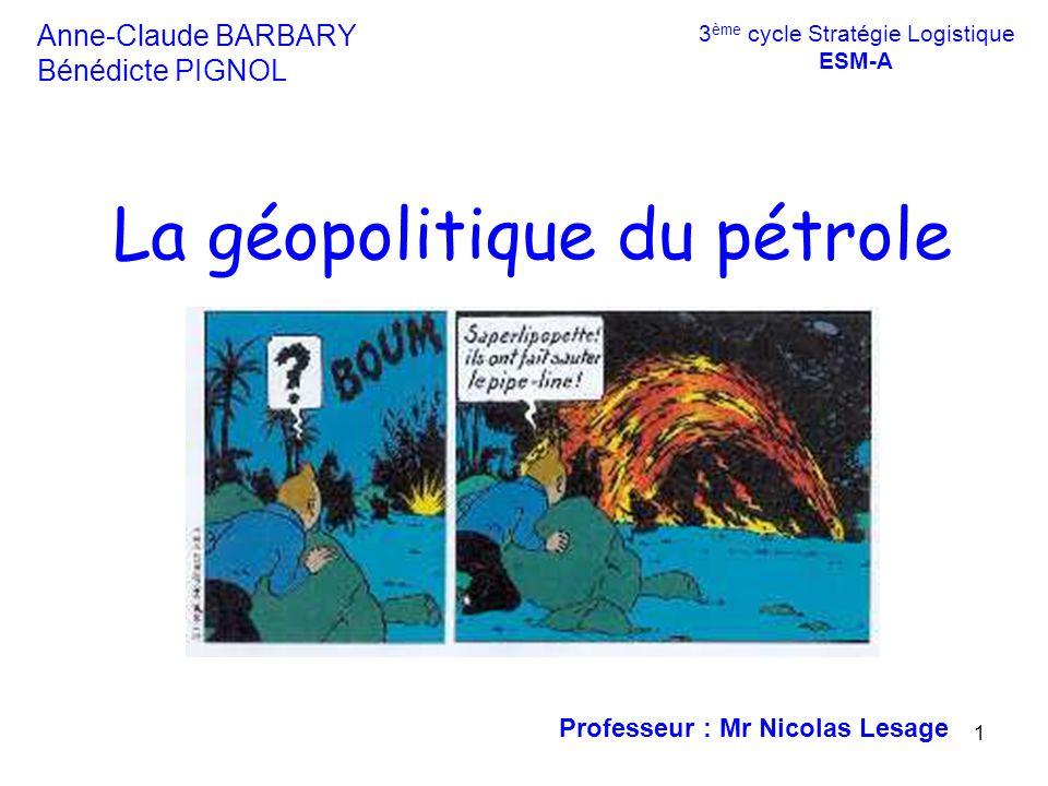 La géopolitique du pétrole