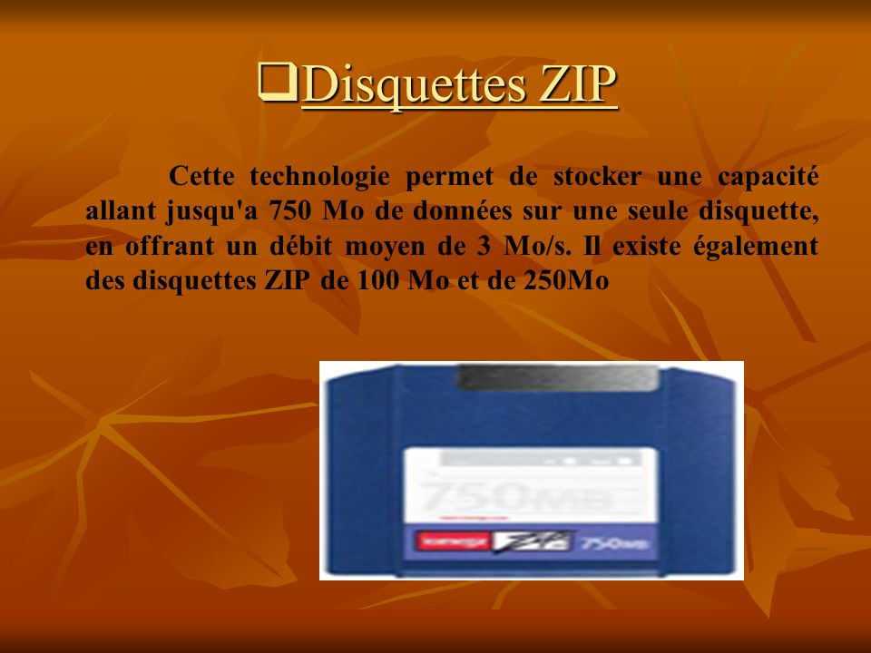 Disquettes ZIP