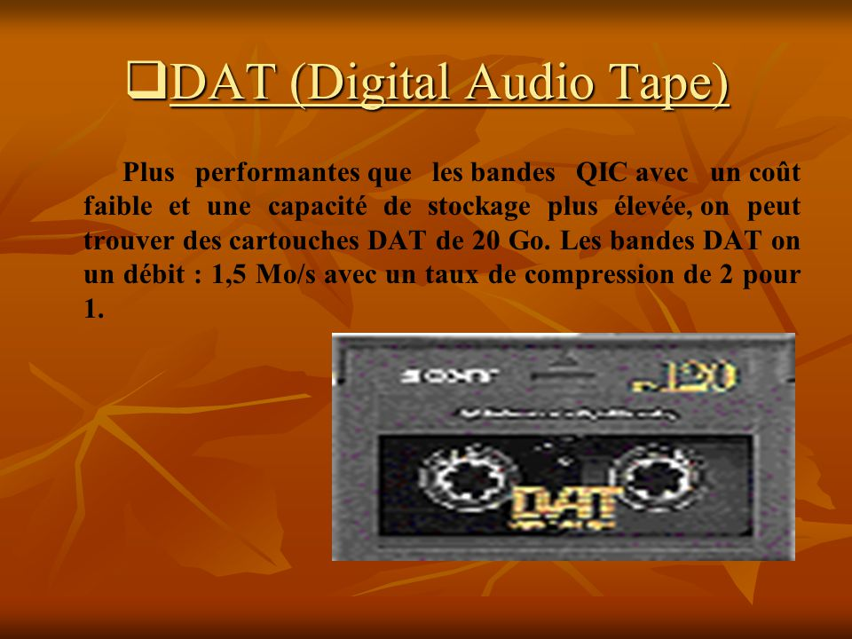 DAT (Digital Audio Tape)