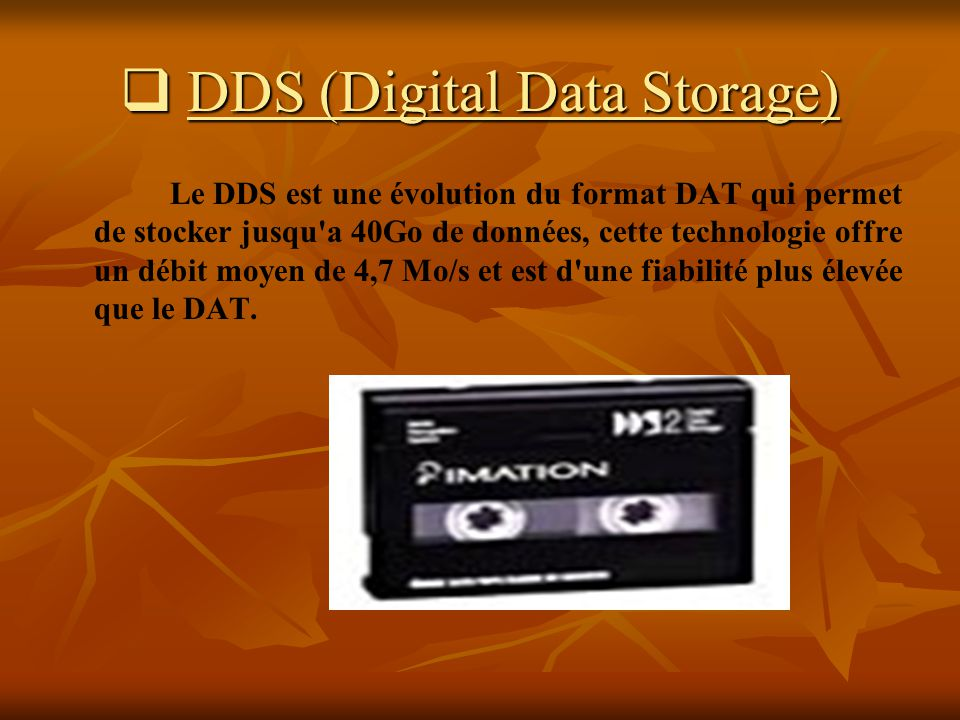 DDS (Digital Data Storage)