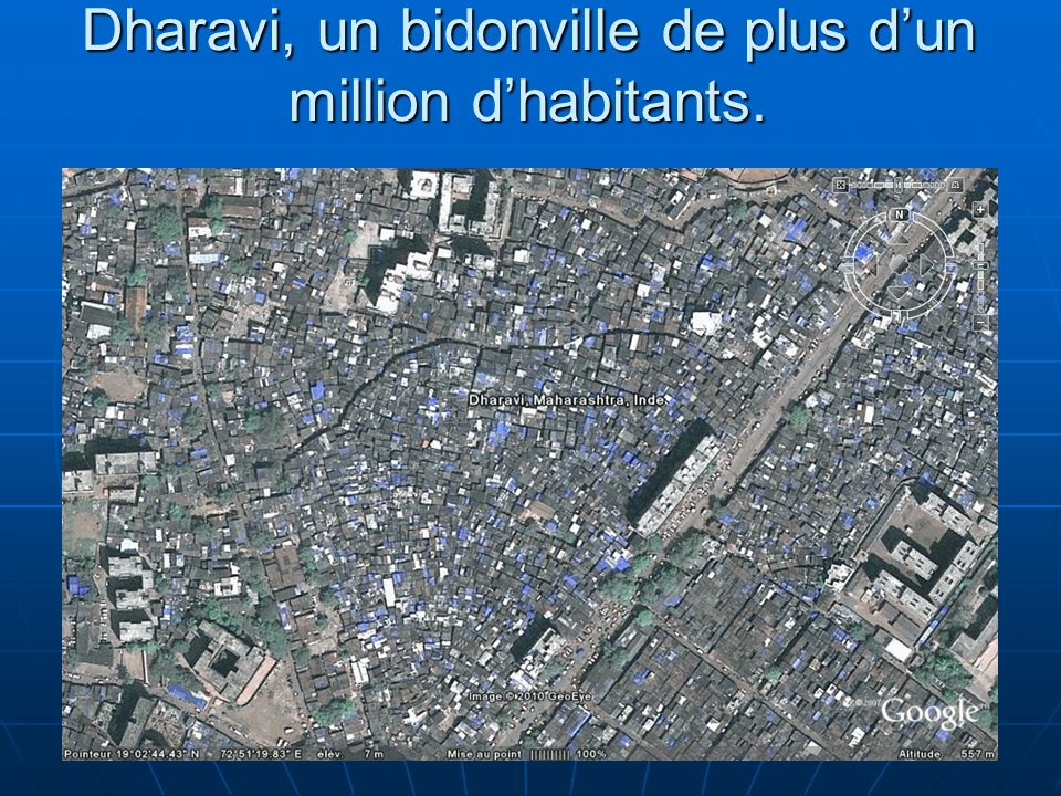 Dharavi, un bidonville de plus d'un million d'habitants.