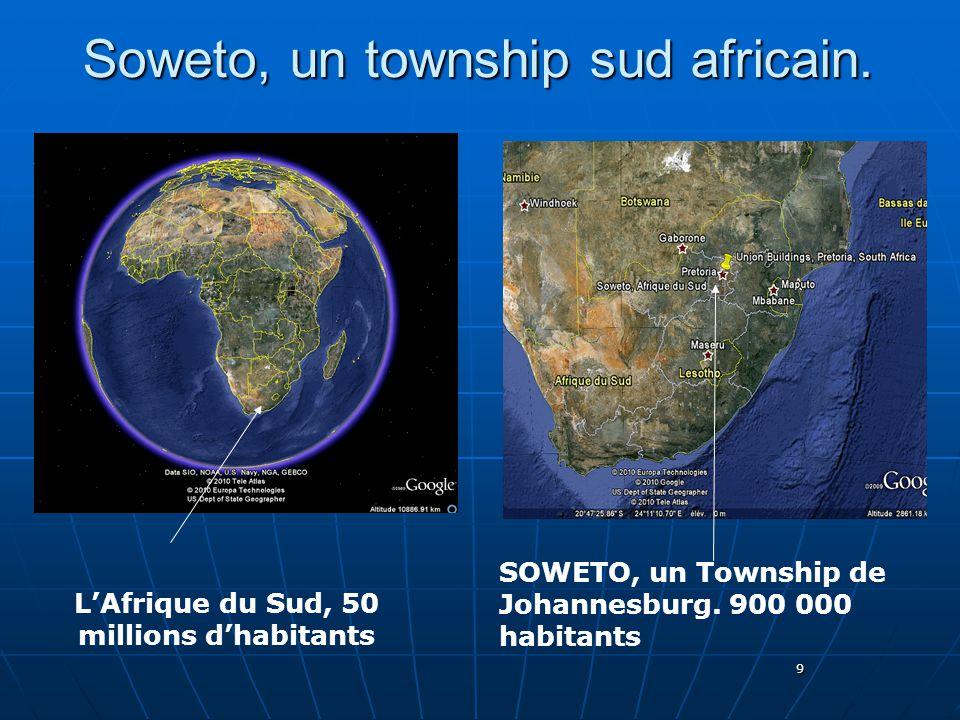 Soweto, un township sud africain.