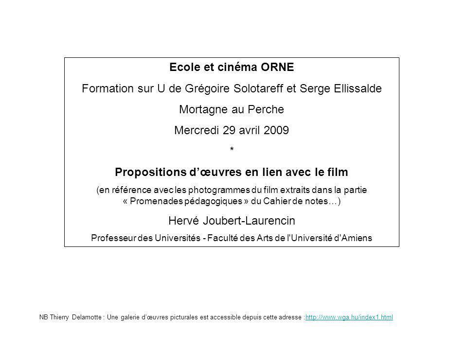 Propositions d'œuvres en lien avec le film
