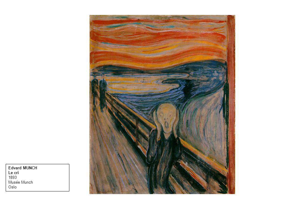 Edvard MUNCH Le cri 1893 Musée Munch Oslo