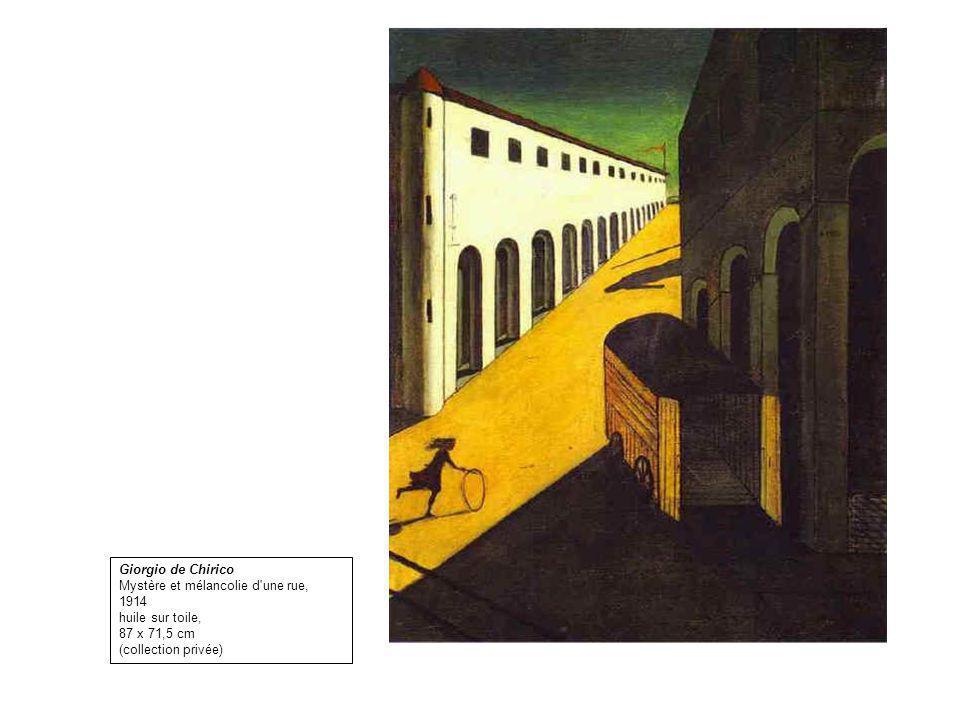 Giorgio de Chirico Mystère et mélancolie d une rue, 1914.