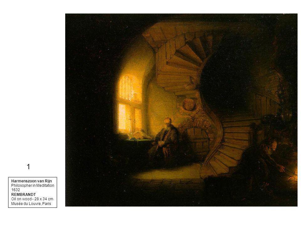 1 Harmenszoon van Rijn Philosopher in Meditation 1632 REMBRANDT