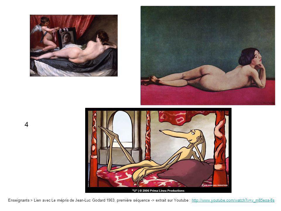 4 Enseignants > Lien avec Le mépris de Jean-Luc Godard 1963, première séquence -> extrait sur Youtube : http://www.youtube.com/watch v=v_m85eoa-8s.