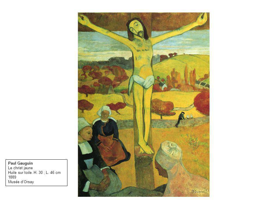 Paul Gauguin Le christ jaune Huile sur toile. H. 30 ; L. 46 cm 1889 Musée d'Orsay