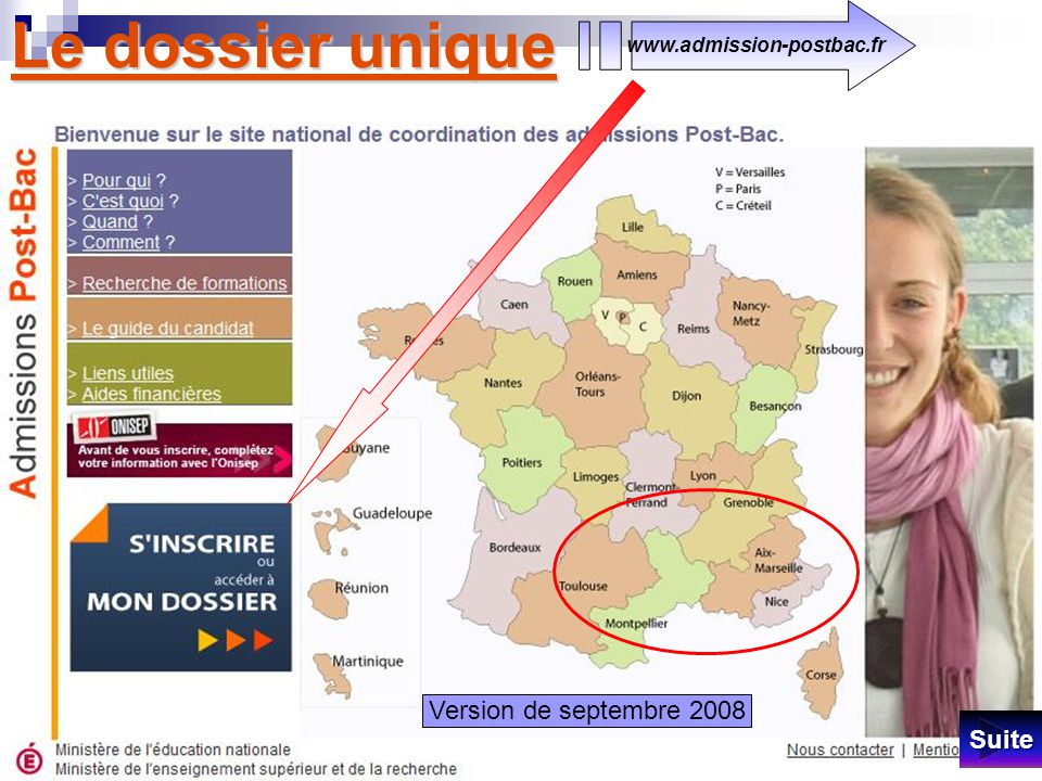 Le dossier unique Version de septembre 2008 Suite