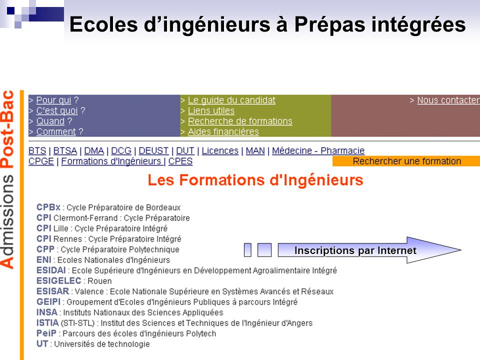 Ecoles d'ingénieurs à Prépas intégrées