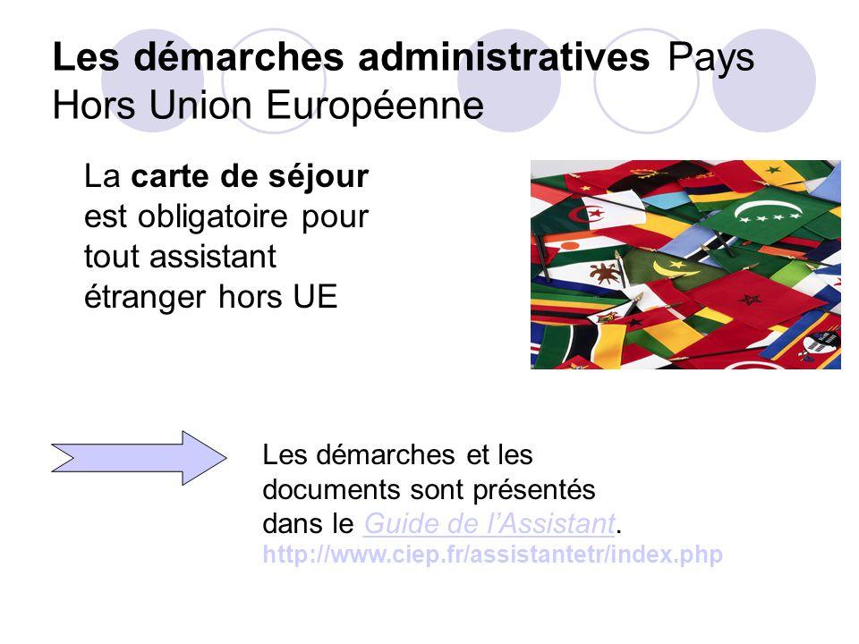 Les démarches administratives Pays Hors Union Européenne