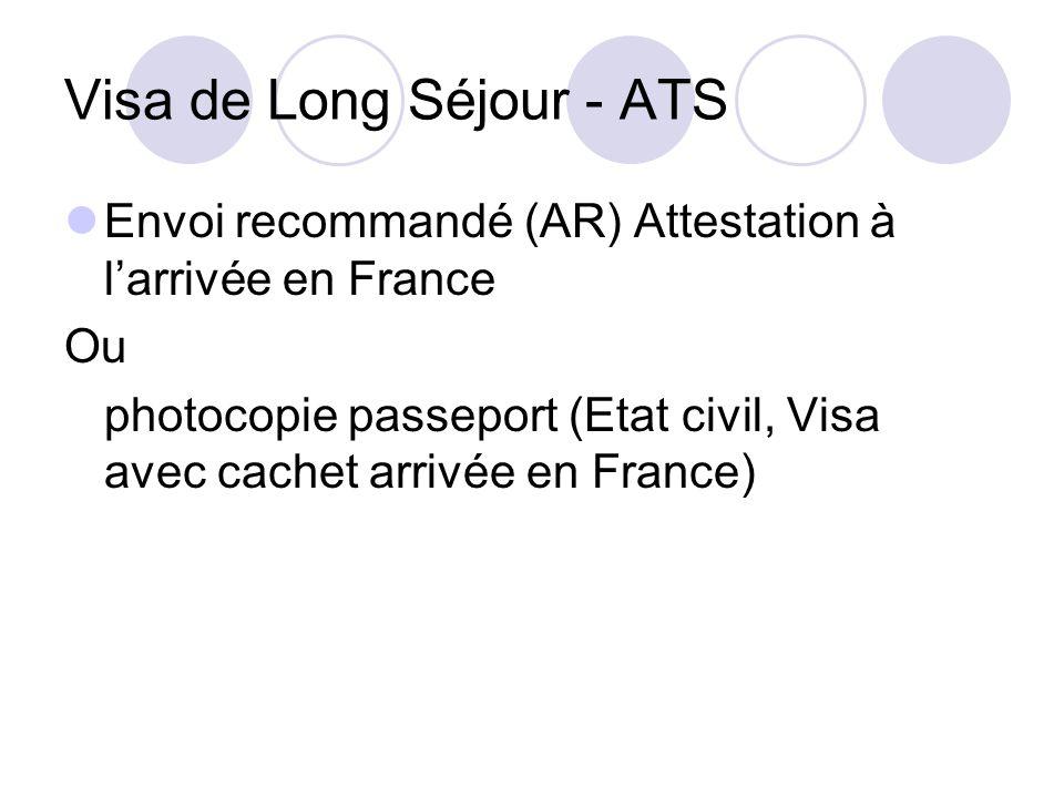Visa de Long Séjour - ATS
