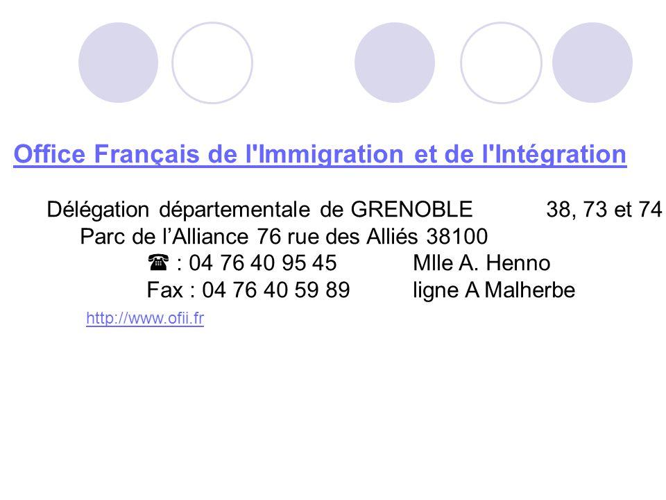 Office Français de l Immigration et de l Intégration