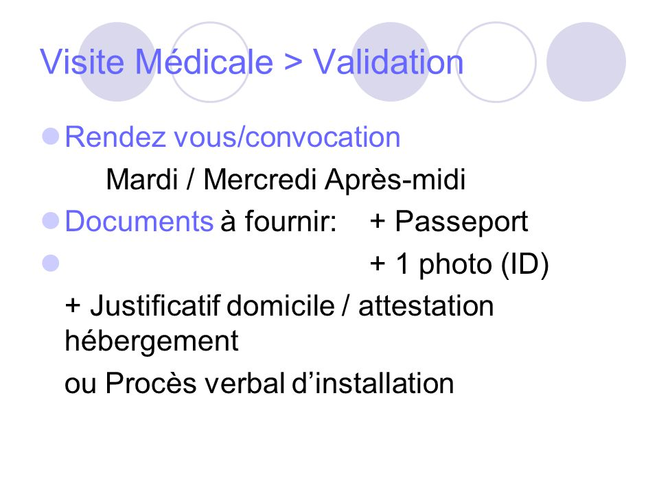 Visite Médicale > Validation