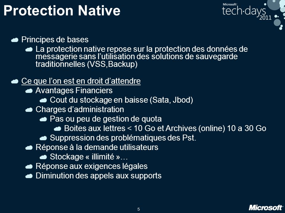 Protection Native Principes de bases