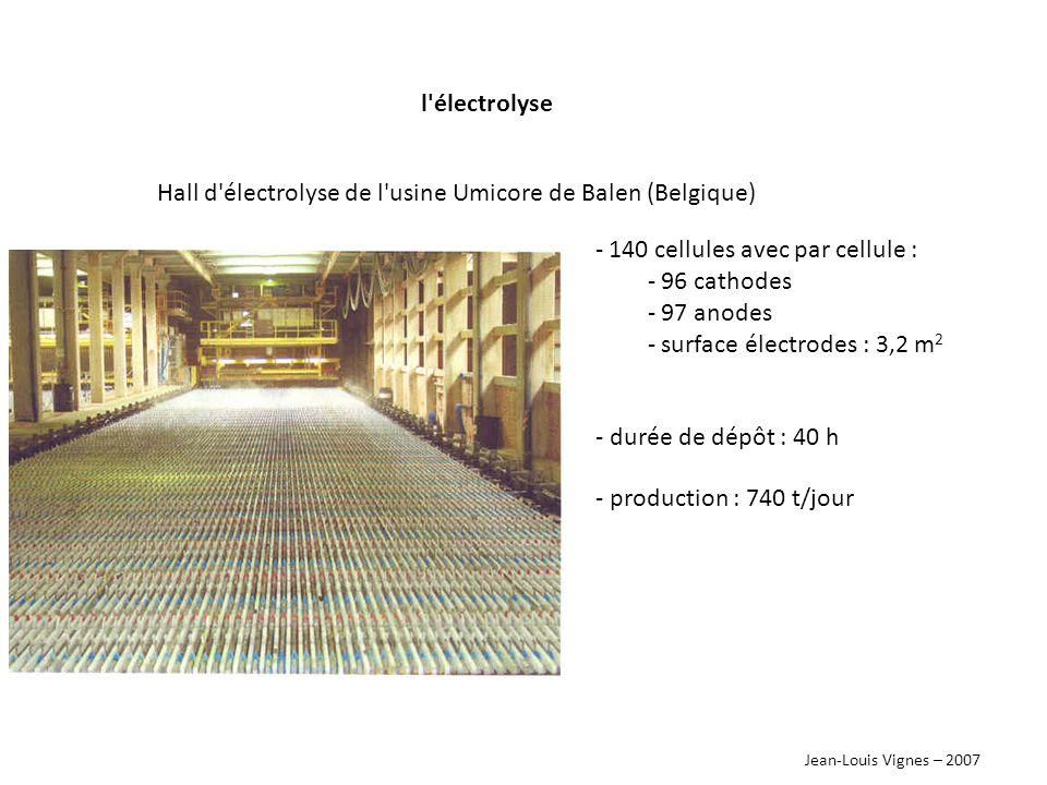 Hall d électrolyse de l usine Umicore de Balen (Belgique)