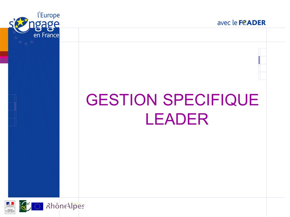 GESTION SPECIFIQUE LEADER