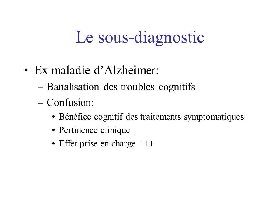 Le sous-diagnostic Ex maladie d'Alzheimer: