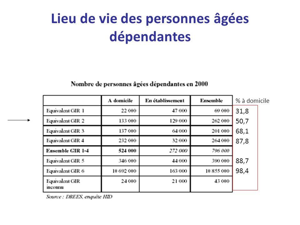 Lieu de vie des personnes âgées dépendantes