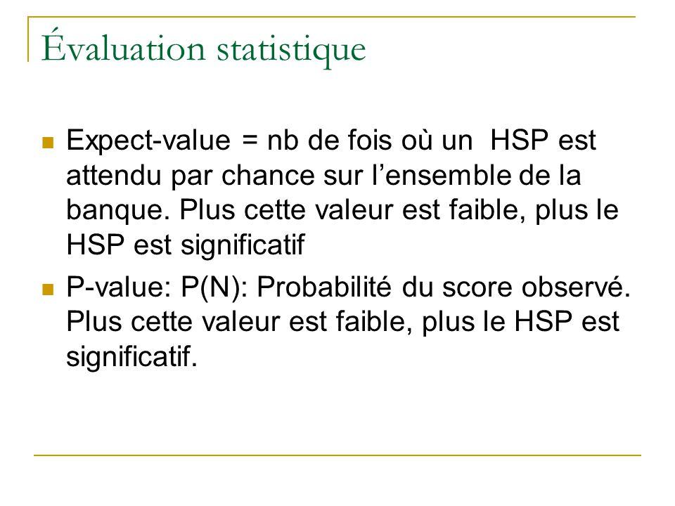 Évaluation statistique