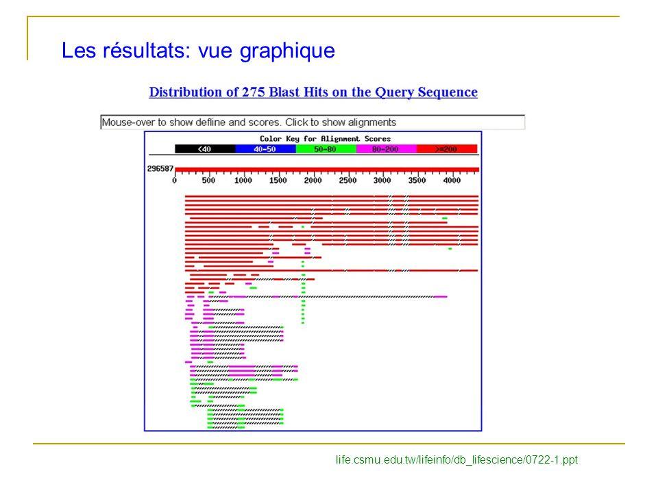 Les résultats: vue graphique