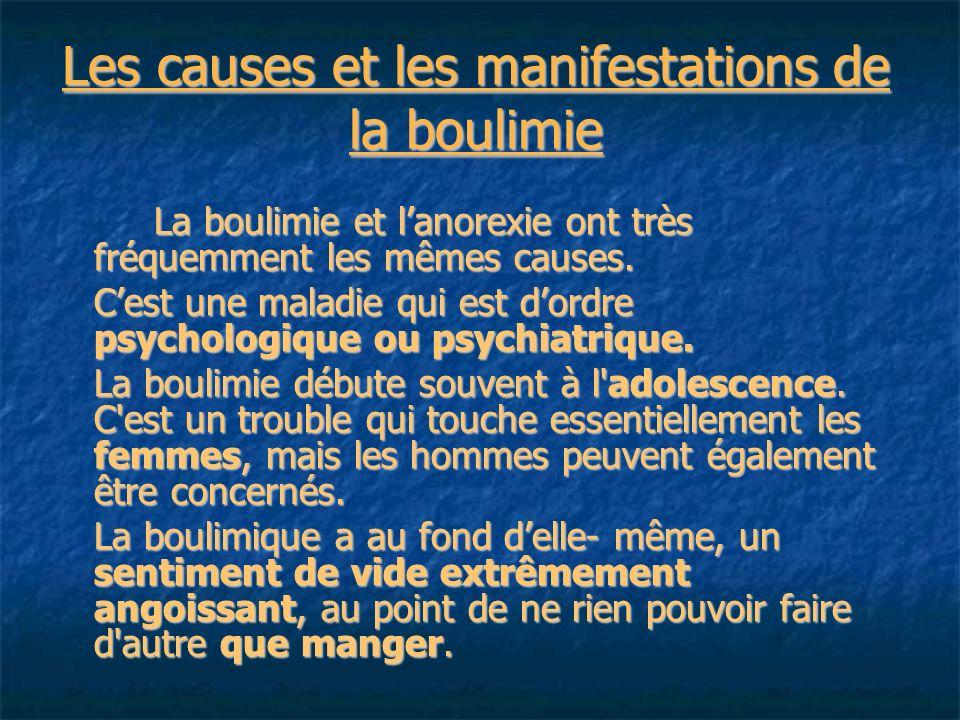 Les causes et les manifestations de la boulimie