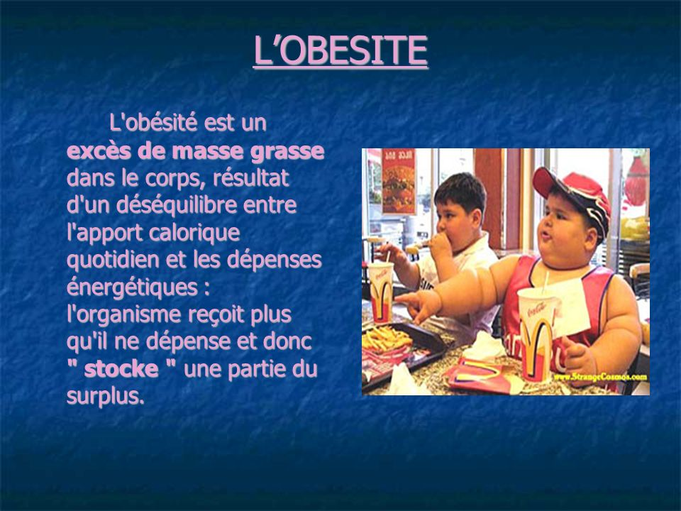 L'OBESITE