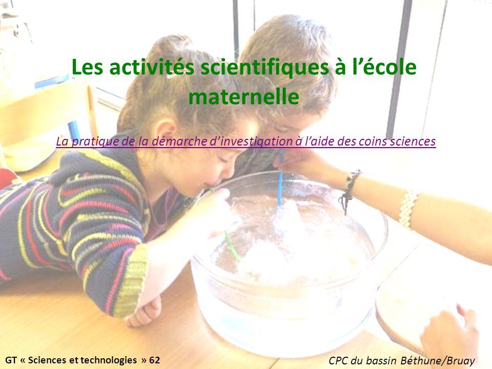 Les activités scientifiques à l'école maternelle