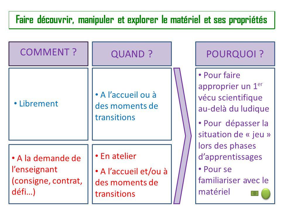 activité scientifique maternelle