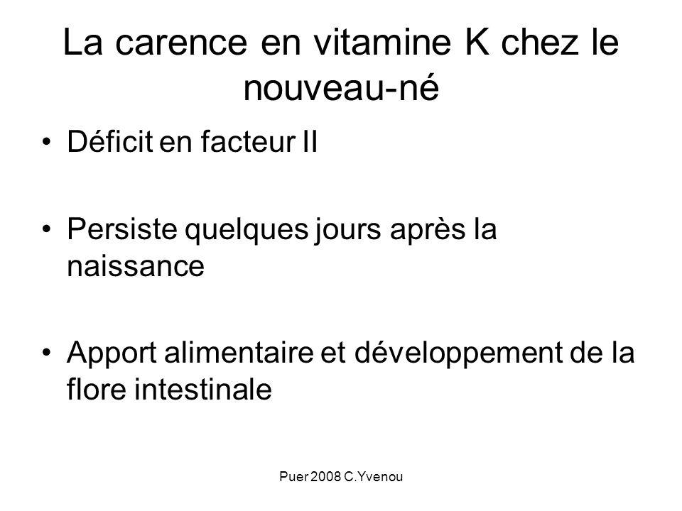 La carence en vitamine K chez le nouveau-né