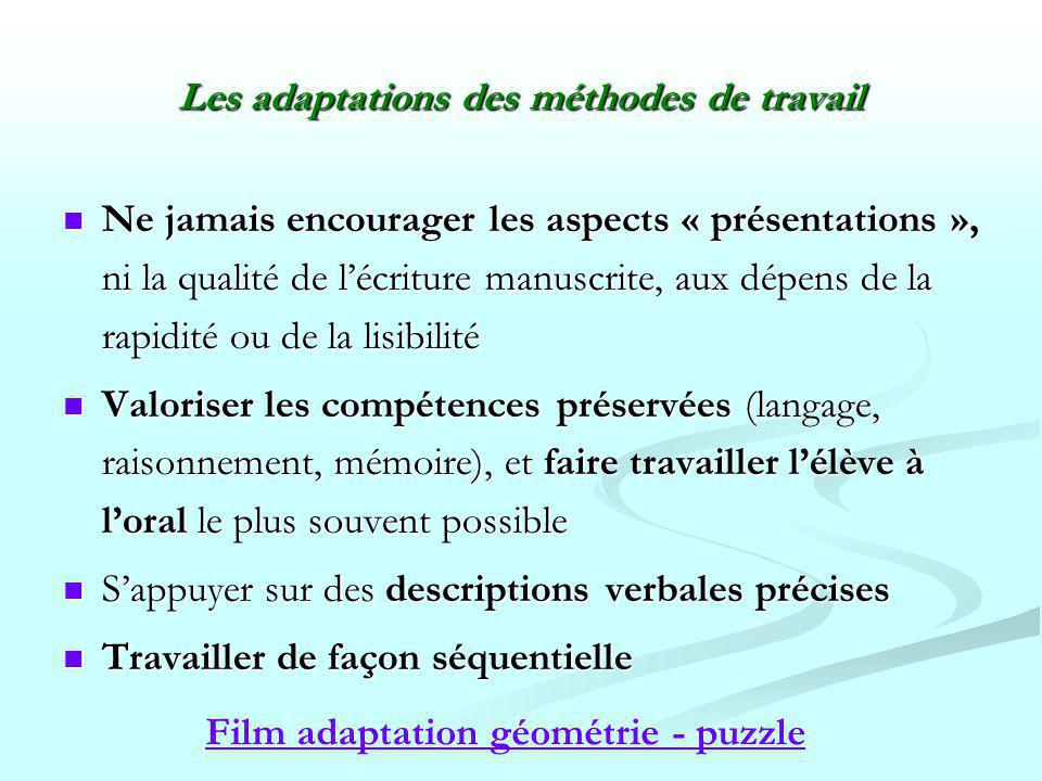 Les adaptations des méthodes de travail