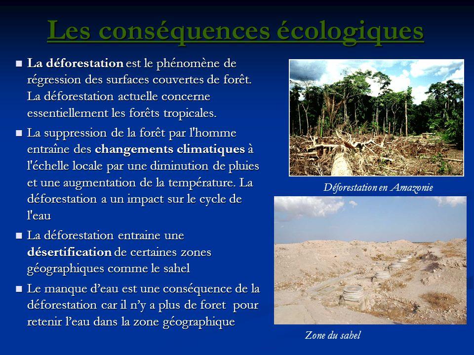 Les conséquences écologiques