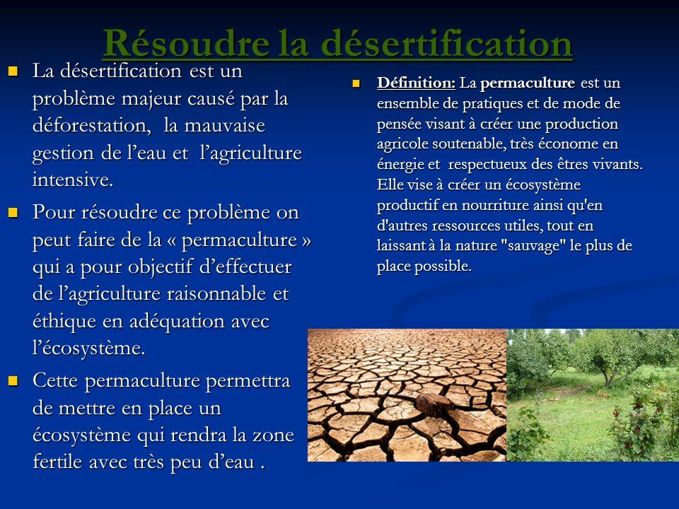 Résoudre la désertification