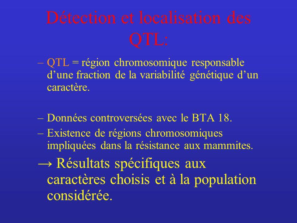 Détection et localisation des QTL: