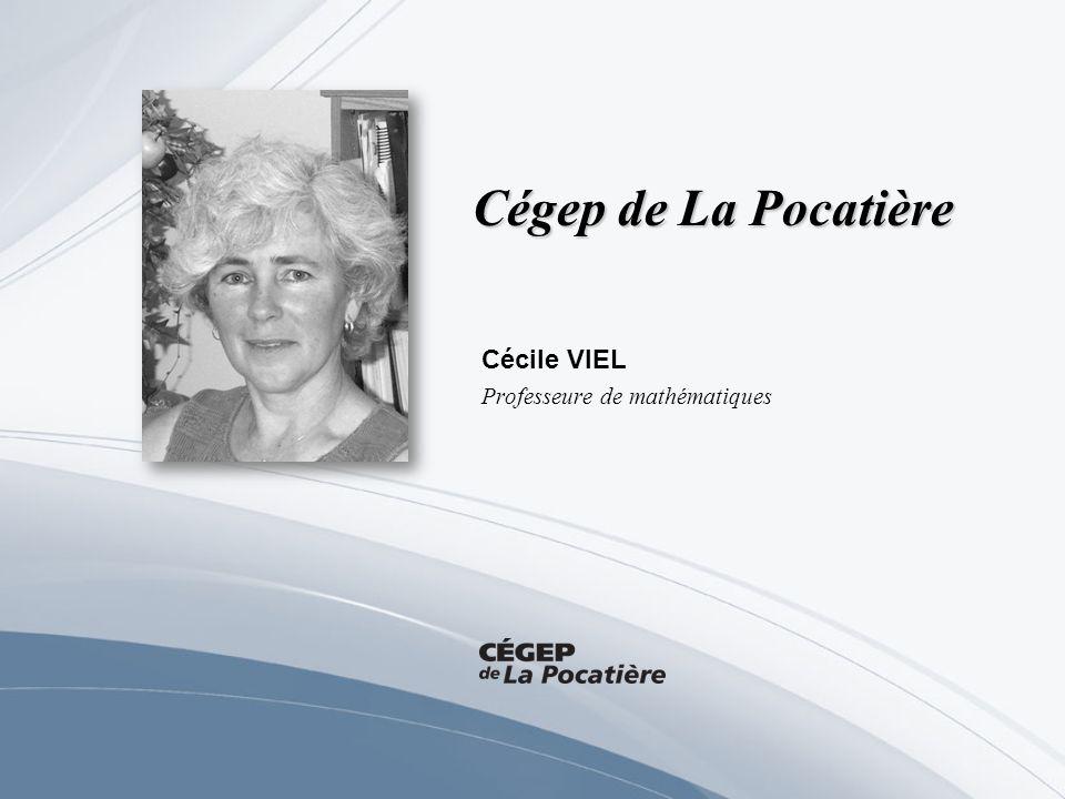 Cécile VIEL Professeure de mathématiques
