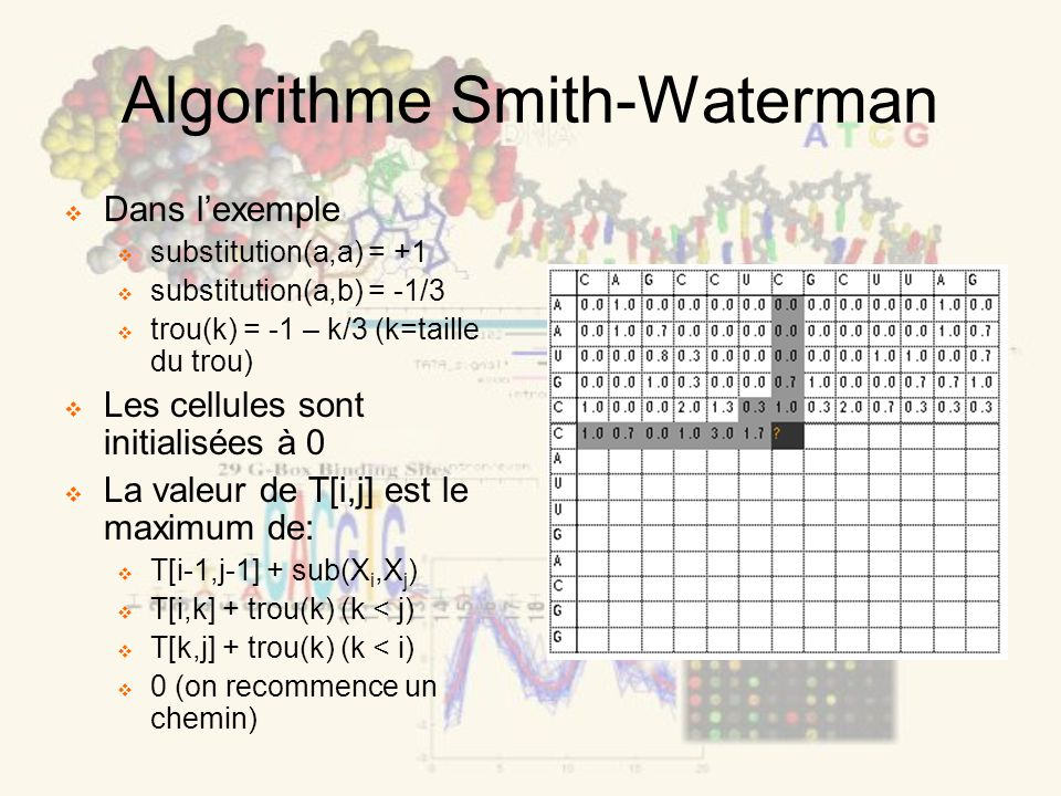 Algorithme Smith-Waterman