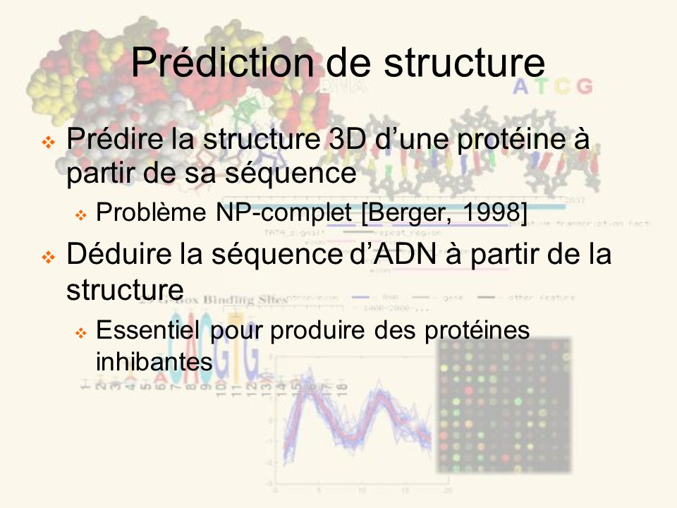 Prédiction de structure