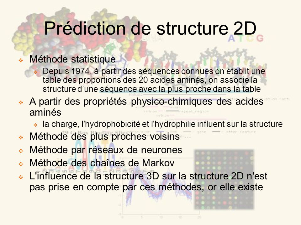 Prédiction de structure 2D