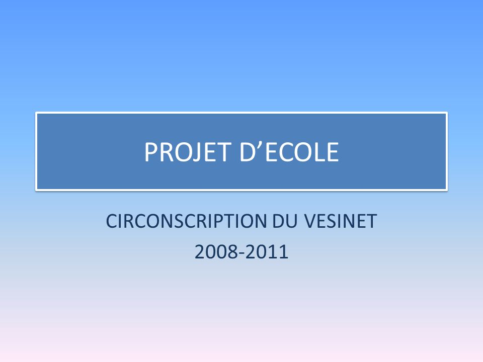 CIRCONSCRIPTION DU VESINET 2008-2011