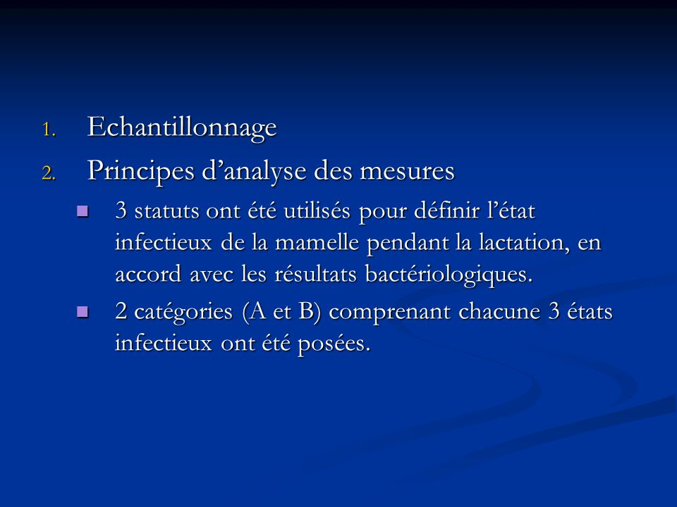 Principes d'analyse des mesures