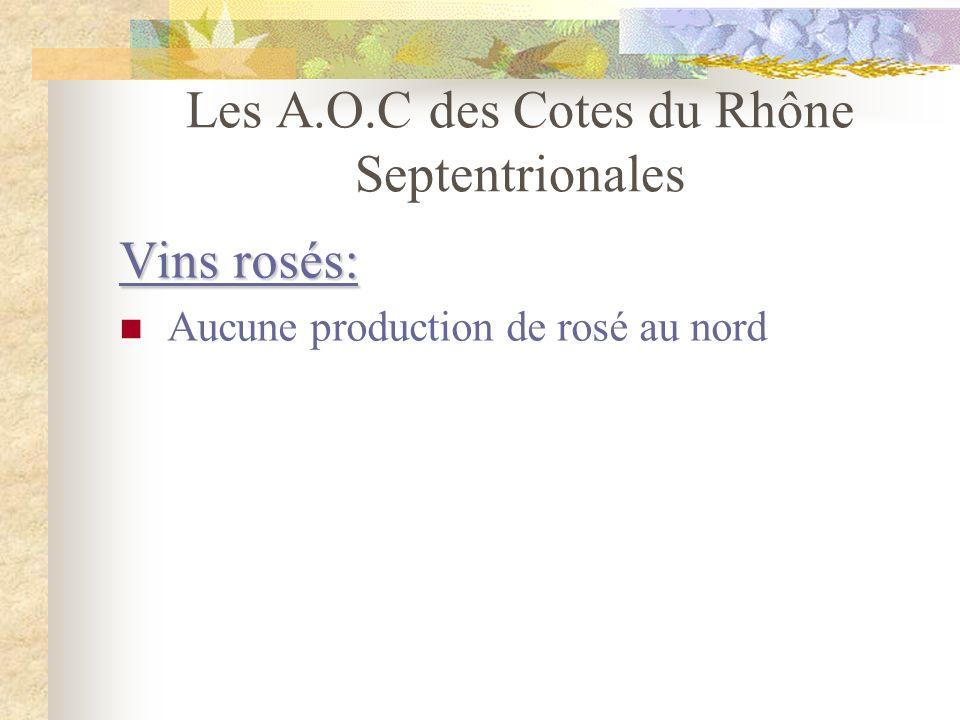 Les A.O.C des Cotes du Rhône Septentrionales